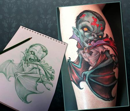 Scotty Munster - Vampire Bat Tattoo
